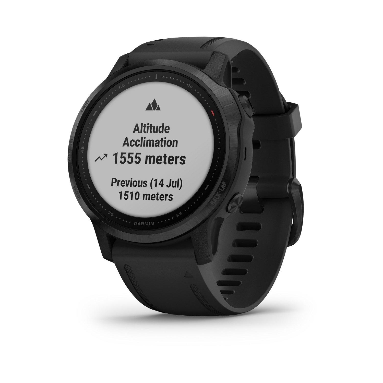 Montre connectée Garmin fenix 6S Pro avec bracelet noir vue 2