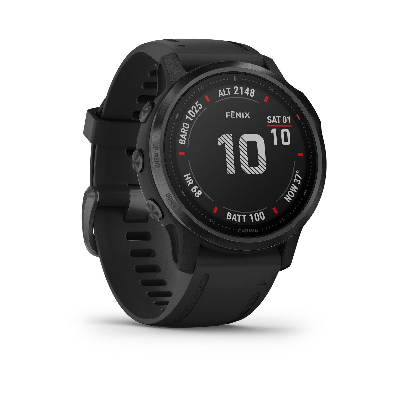 Montre connectée Garmin fenix 6S Pro avec bracelet noir vue 4