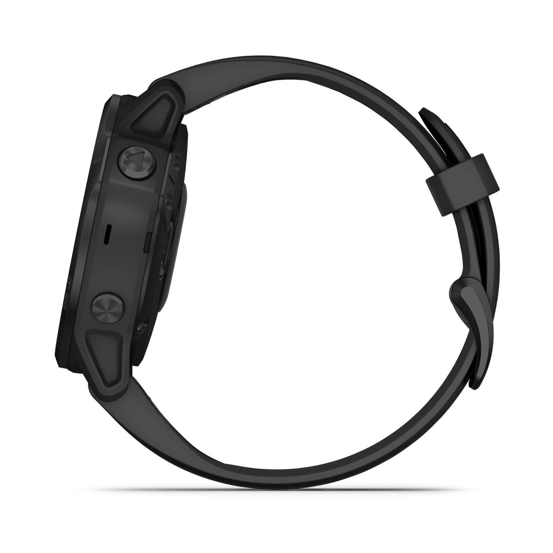 Montre connectée Garmin fenix 6S Pro avec bracelet noir vue 5