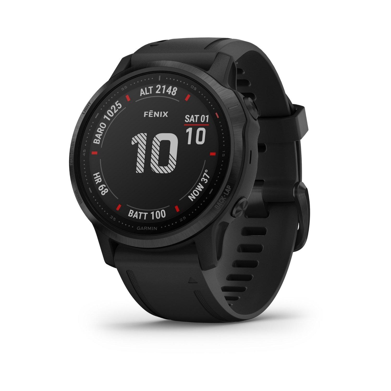Montre connectée Garmin fenix 6S Pro avec bracelet noir vue 1