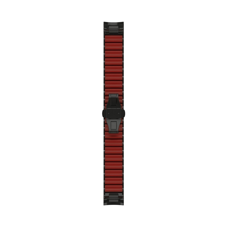 Bracelet de montre MARQ en titane PVD gris et silicone vue 2