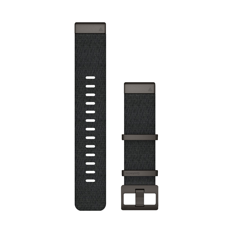 Bracelet de montre MARQ en nylon tissé Jacquard noir chiné vue 1
