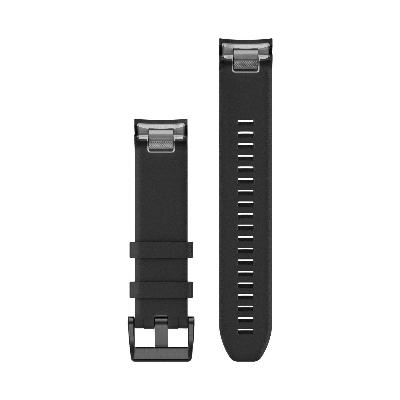 Bracelet de montre MARQ en silicone noir vue 2