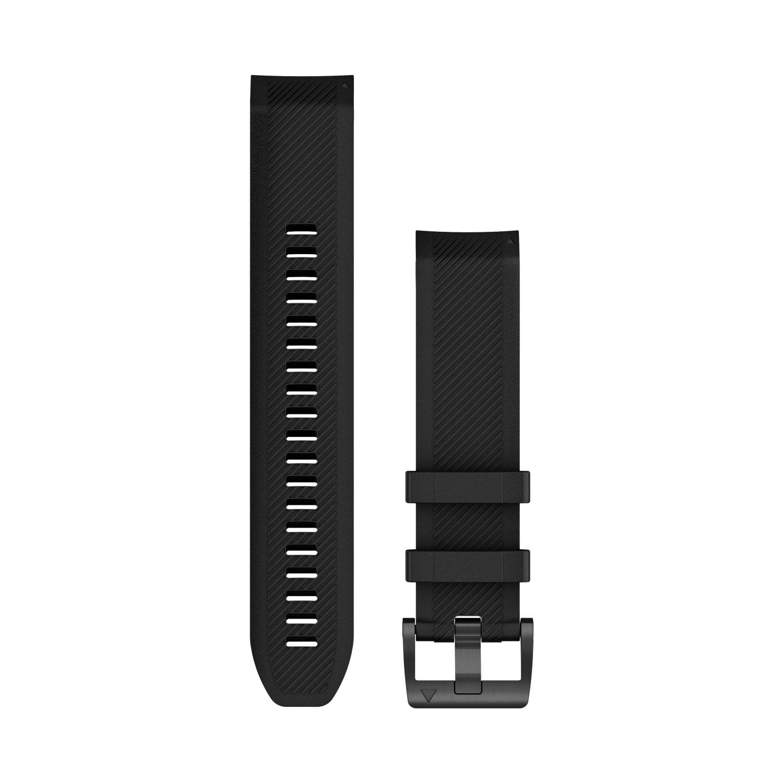 Bracelet de montre MARQ en silicone noir vue 1