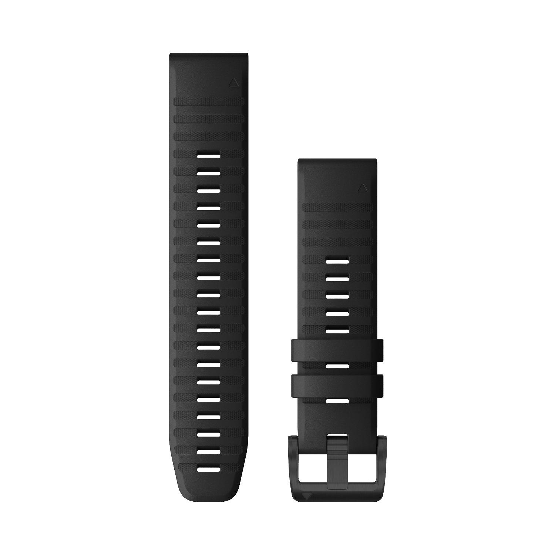 Bracelet de montre Garmin Quickfit 22 en silicone noir vue 1