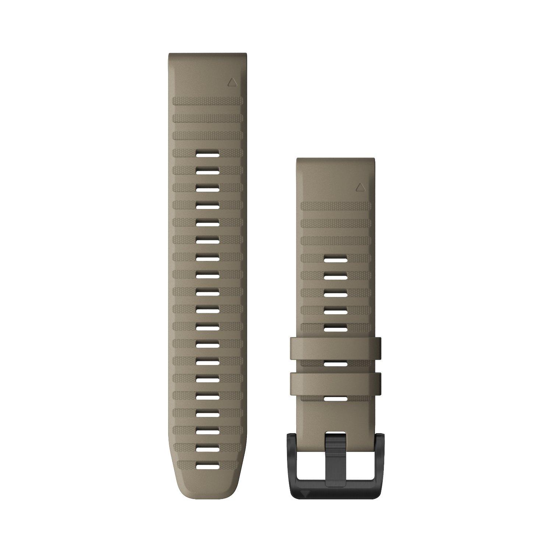 Bracelet de montre Garmin Quickfit 22 en silicone beige vue 1