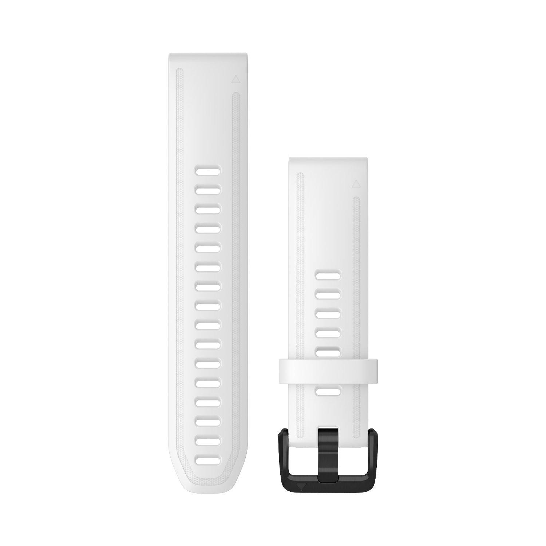 Bracelet de montre Garmin Quickfit 20 en silicone blanc vue 1