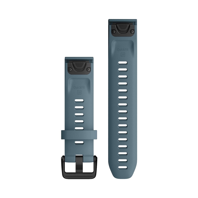 Bracelet de montre Garmin Quickfit 20 en silicone bleu lac vue 2