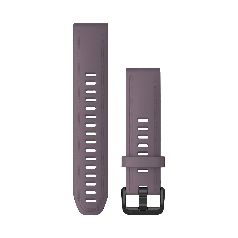 Bracelet de montre Garmin Quickfit 20 en silicone violet vue 1
