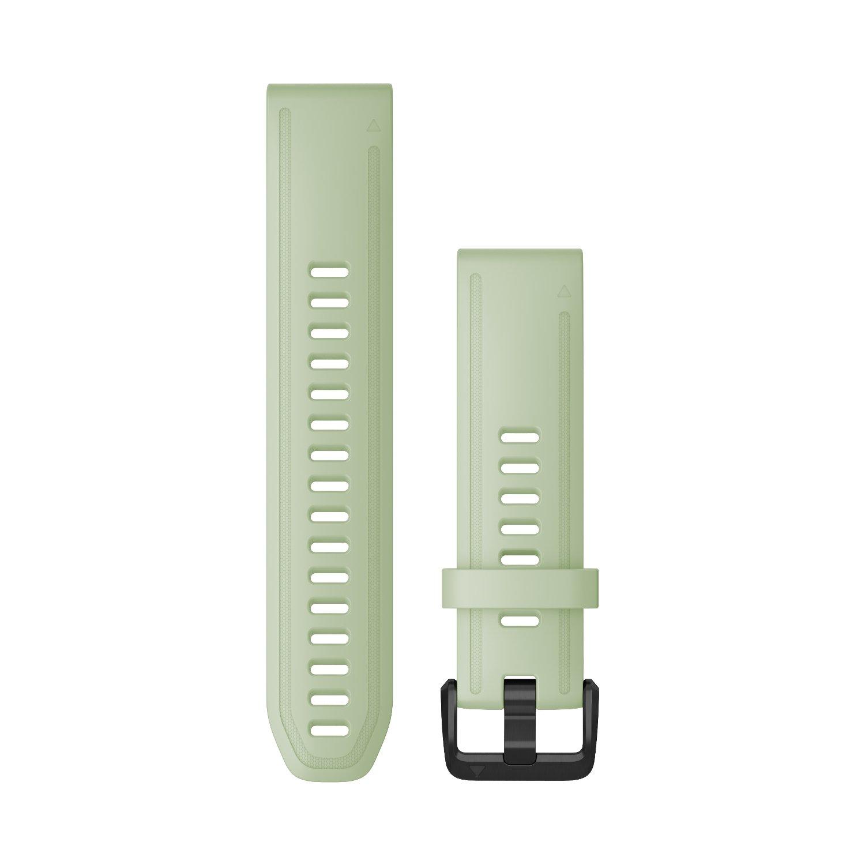 Bracelet de montre Garmin Quickfit 20 en silicone menthe verte vue 1