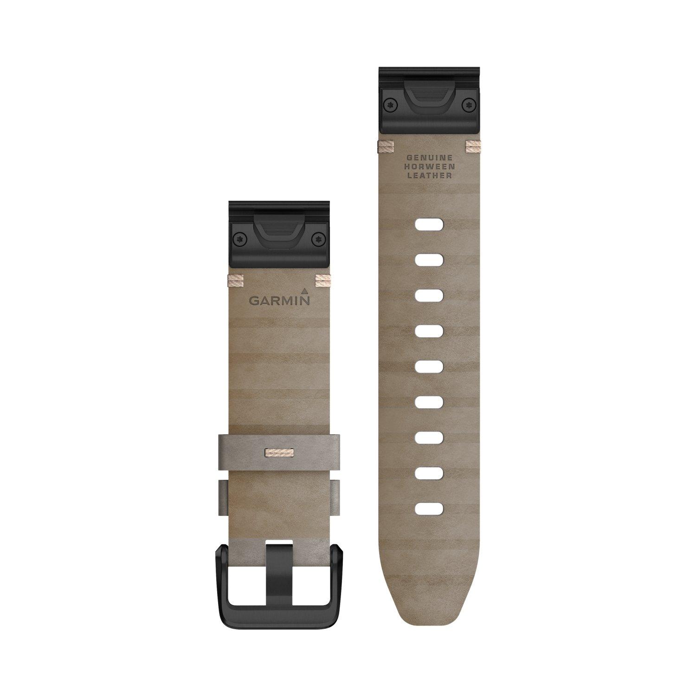 Bracelet de montre Garmin Quickfit 20 en cuir gris vue 2