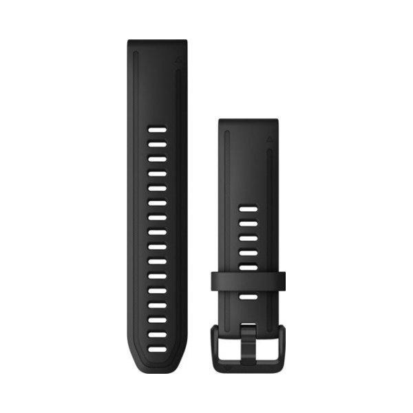Bracelet de montre Garmin Quickfit 20 en silicone noir vue 1