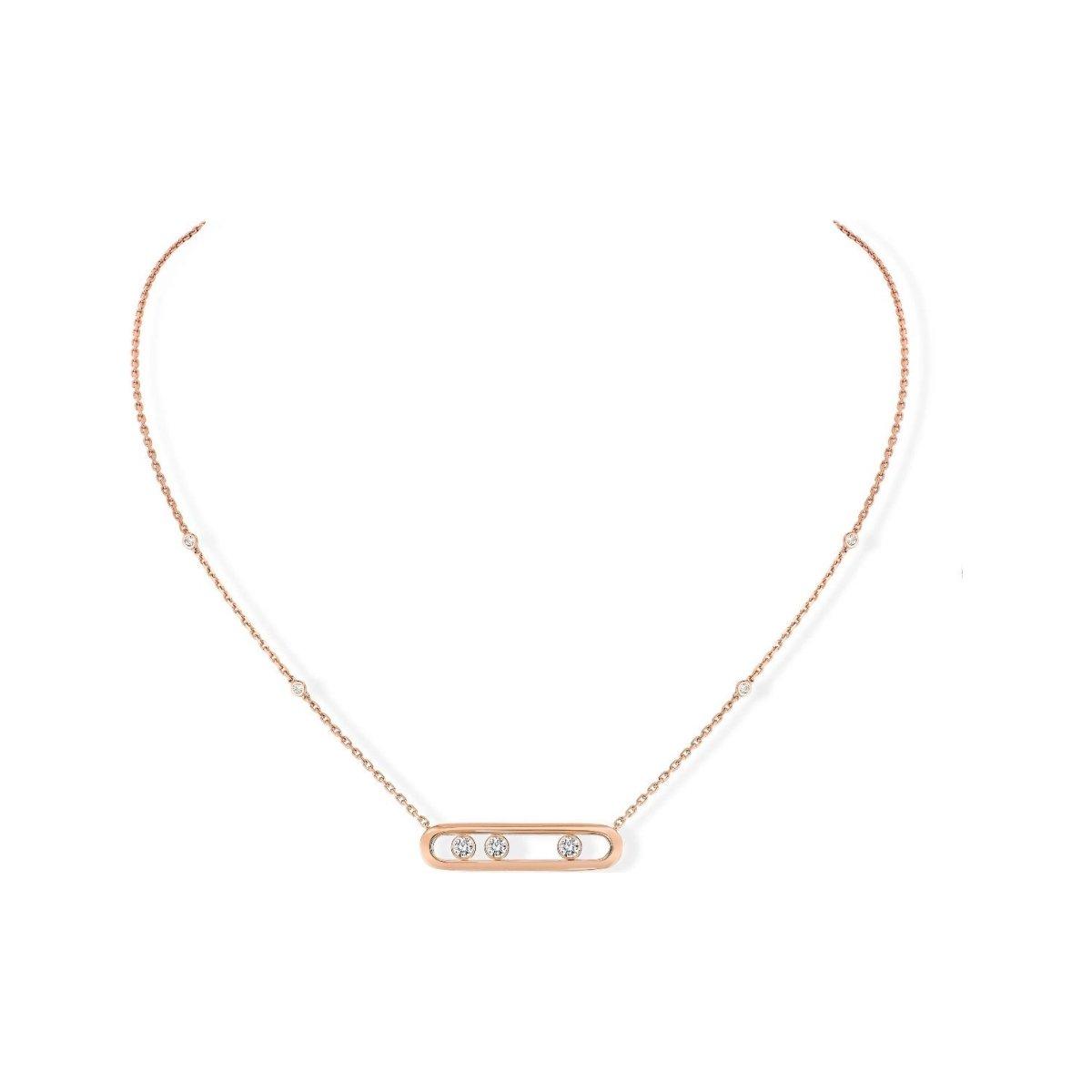 Collier Messika Move Classique en or rose et diamants vue 1