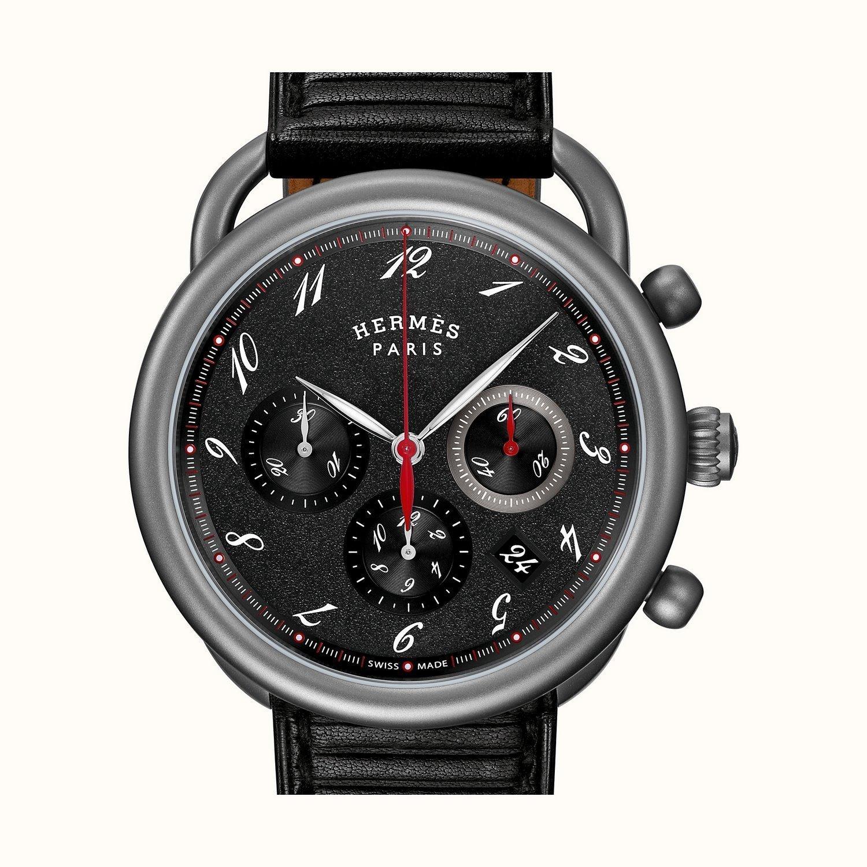 Montre Hermès Arceau Chronographe TGM vue 2