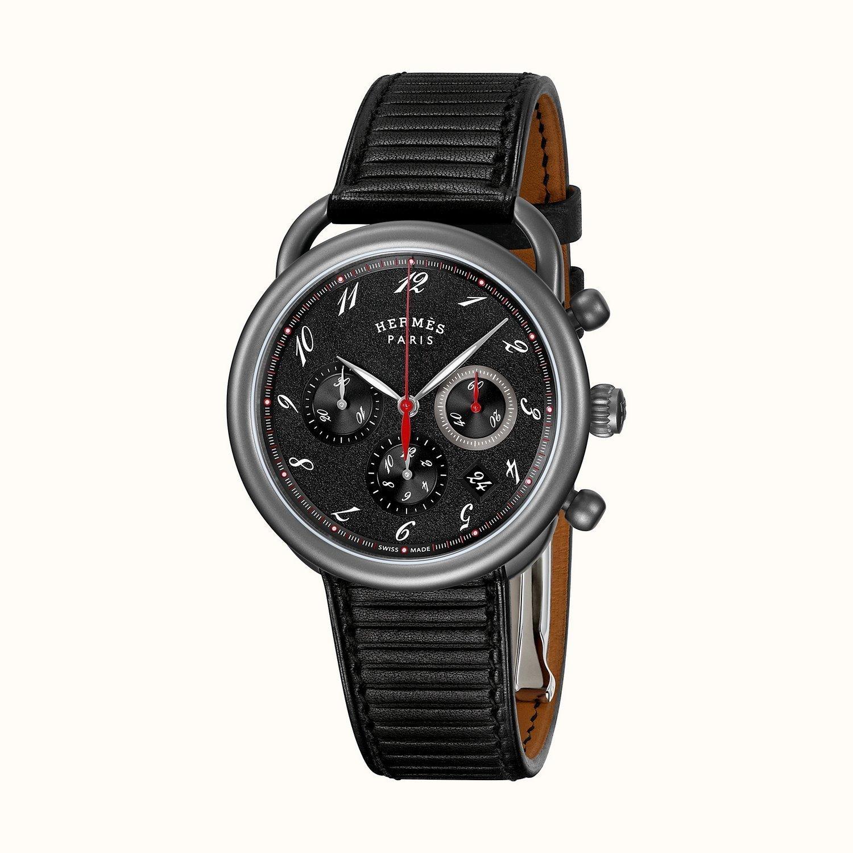 Montre Hermès Arceau Chronographe TGM vue 3