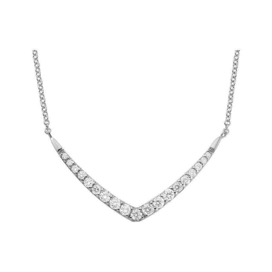 Collier en or blanc et diamants de 0.29ct