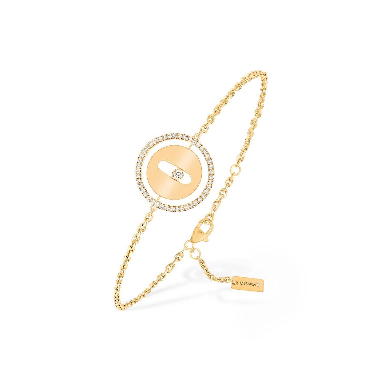 Bracelet sur chaine Messika Lucky Move PM en or jaune et diamants