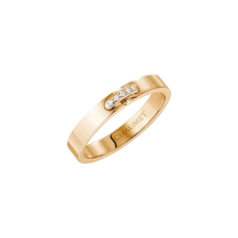 Alliance Chaumet Liens en or rose et diamants