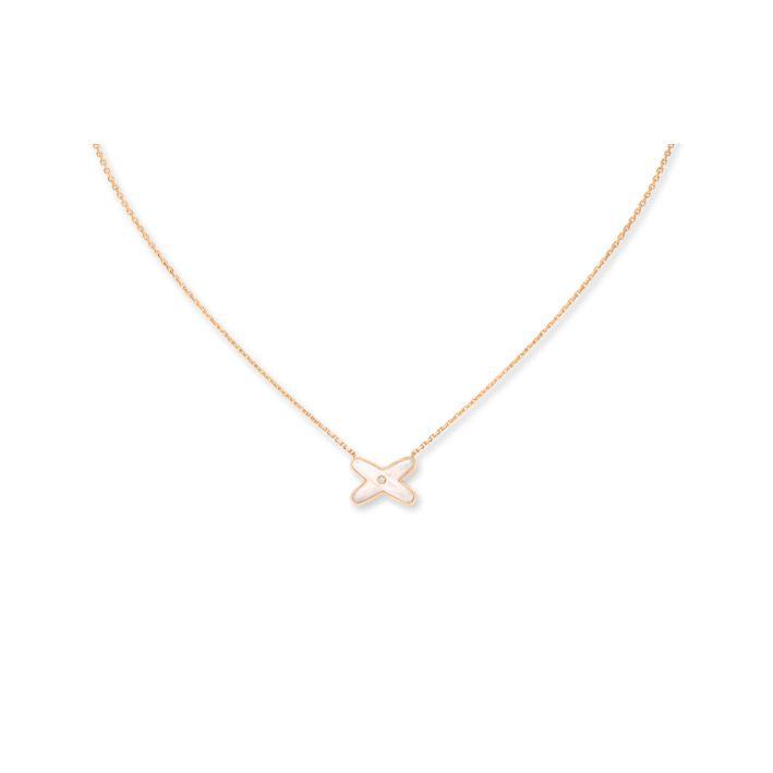 Pendentif Chaumet Jeux de Liens en or rose, nacre et diamant vue 2