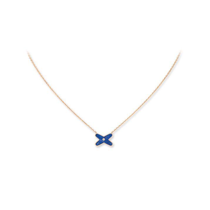Pendentif Chaumet Jeux de Liens en Or rose Lapis Lazuli et Diamant vue 2