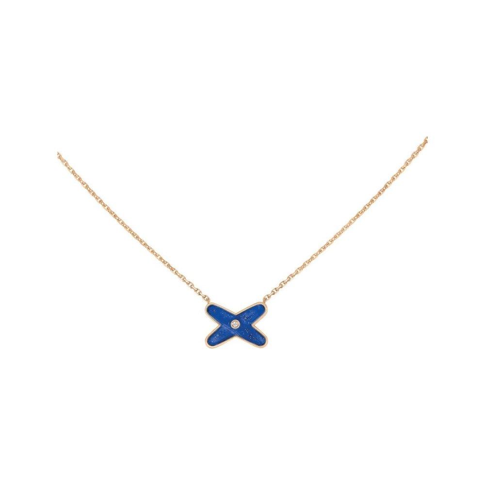Pendentif Chaumet Jeux de Liens en Or rose Lapis Lazuli et Diamant vue 1