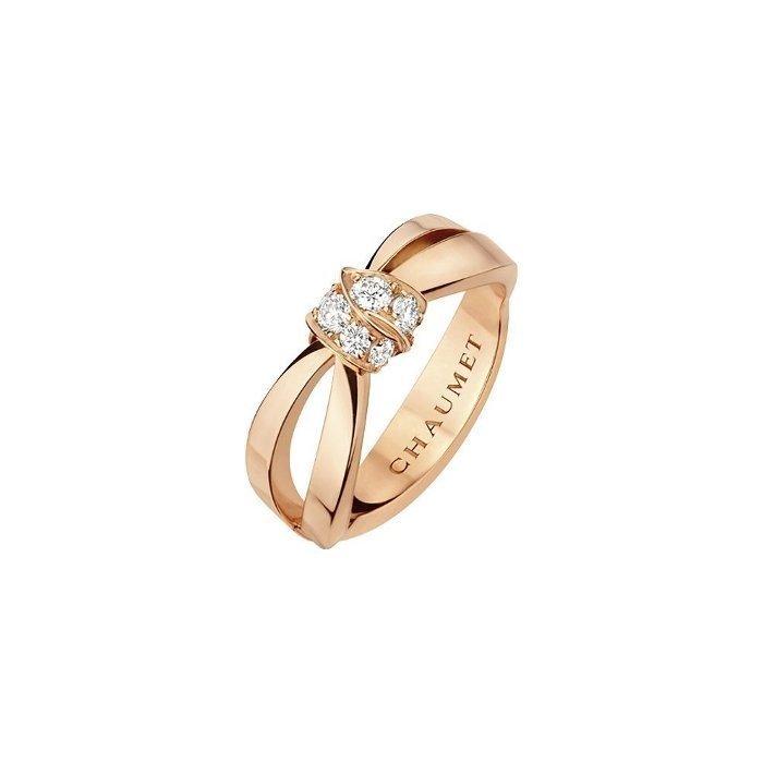 Bague Chaumet Liens Séduction en or rose et diamants vue 1