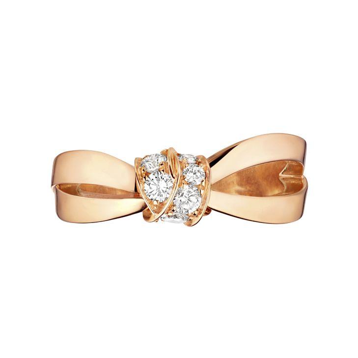 Bague Chaumet Liens Séduction en or rose et diamants vue 2