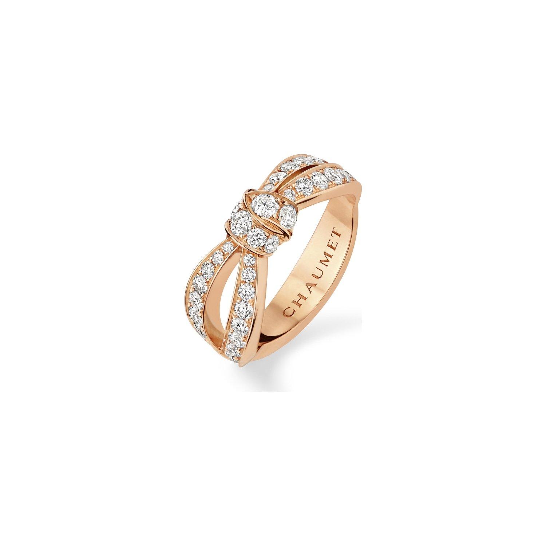 Bague Chaumet Liens Séduction en or rose et diamants