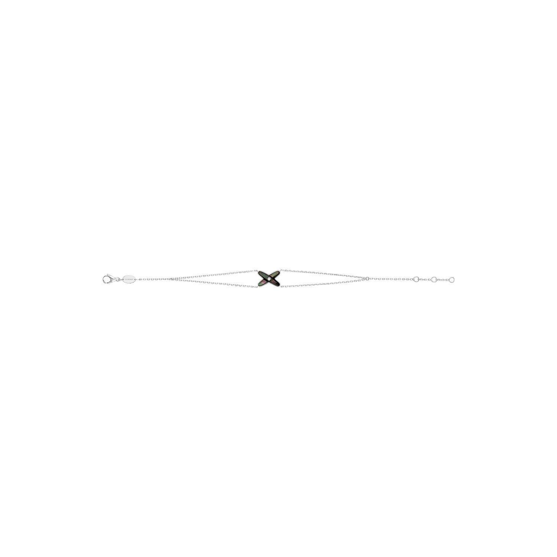 Bracelet Chaumet Jeux de Liens en or blanc, diamant et nacre grise