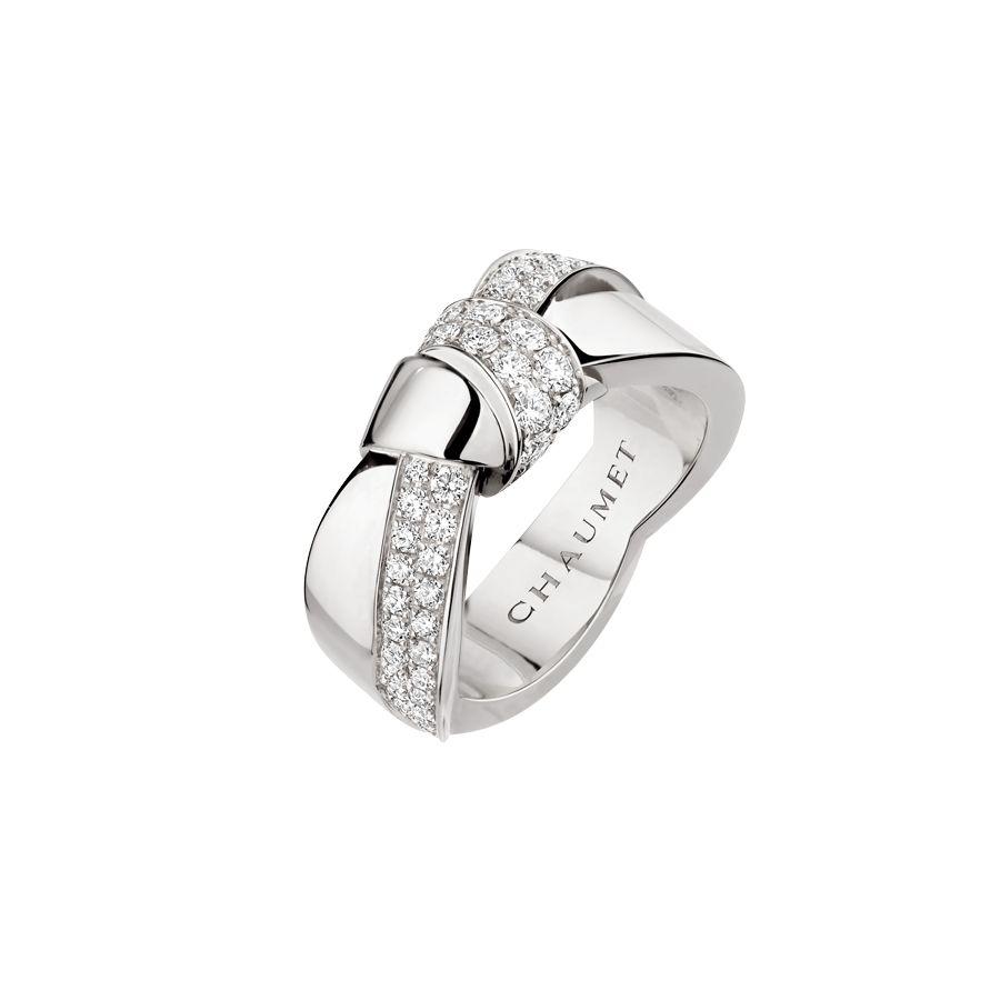 Bague Chaumet Liens Séduction en or blanc et diamants vue 1
