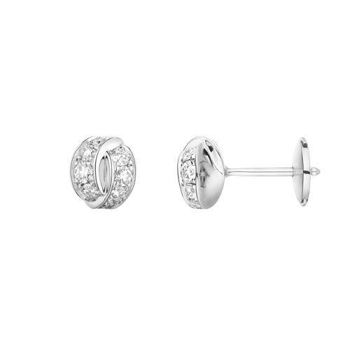 Boucles d'oreilles Chaumet Liens Séduction en or blanc et diamants vue 2