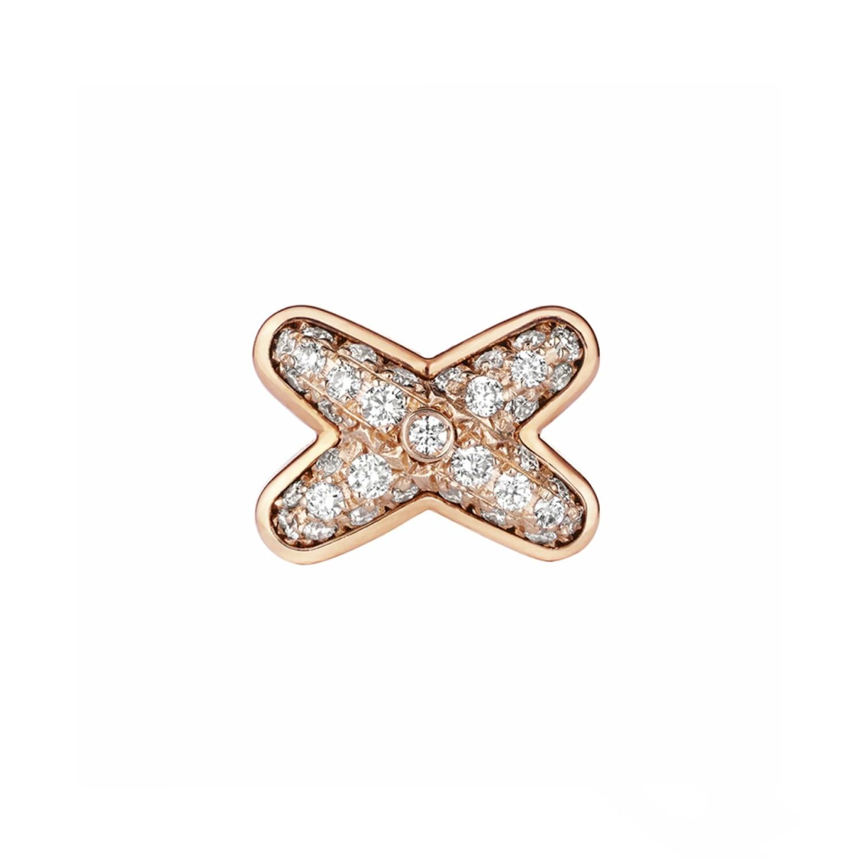 Boucles d'oreilles Chaumet Jeux de Liens en or rose et diamants vue 1