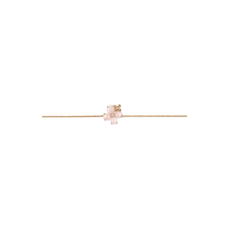 Bracelet Chaumet Hortensia Aube Rosée en or rose, diamants et opale rose