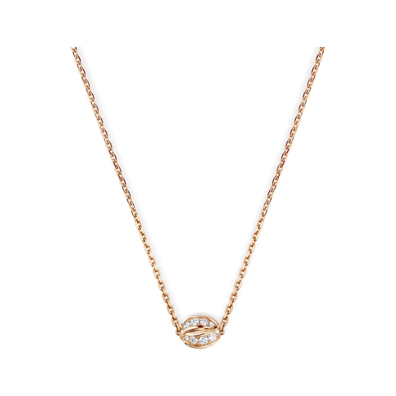 Pendentif Chaumet Liens Séduction en or rose et diamants