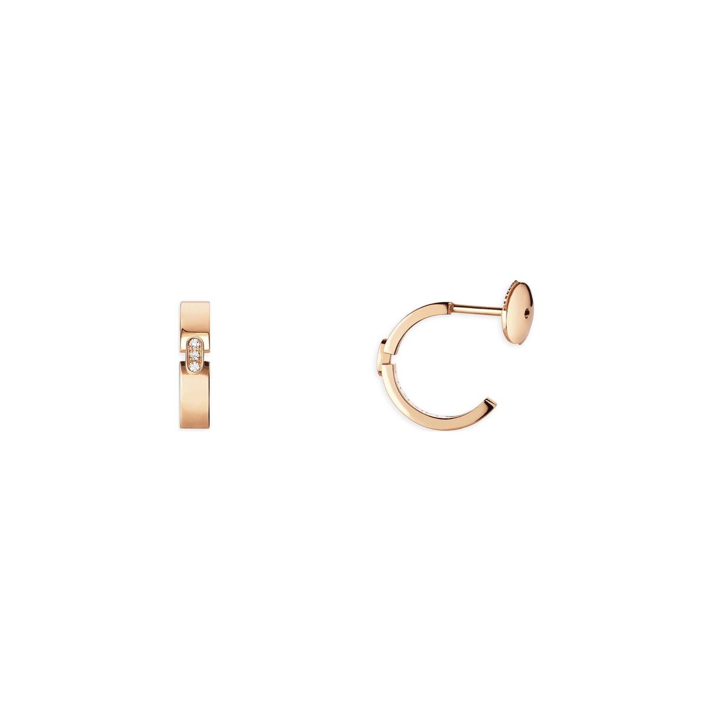 Boucles d'oreilles Chaumet Liens Evidence en or rose et diamants