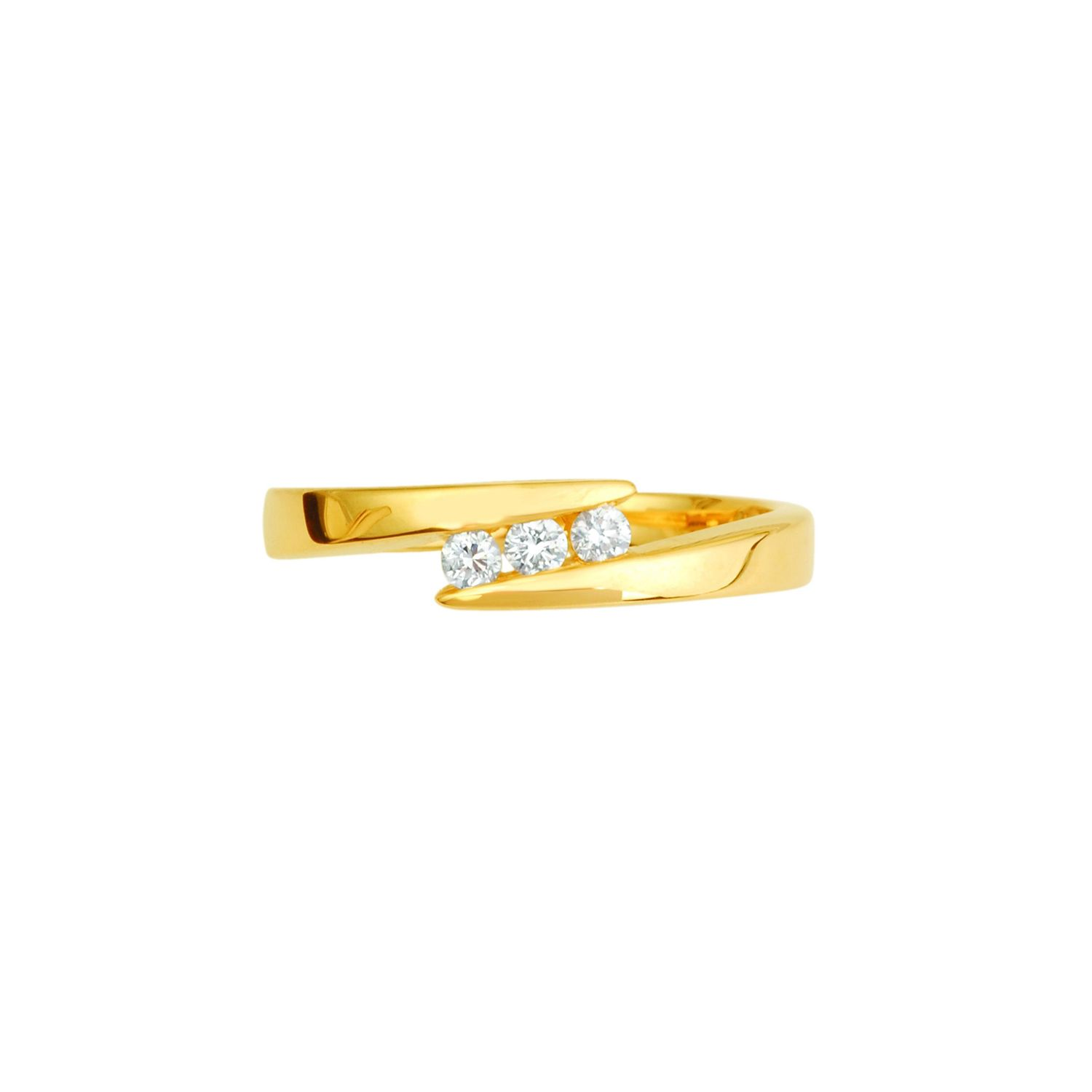 Bague en or jaune et diamants de 0.12ct