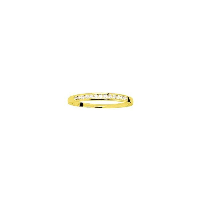 Alliance en or jaune et diamants de 0.10ct vue 1
