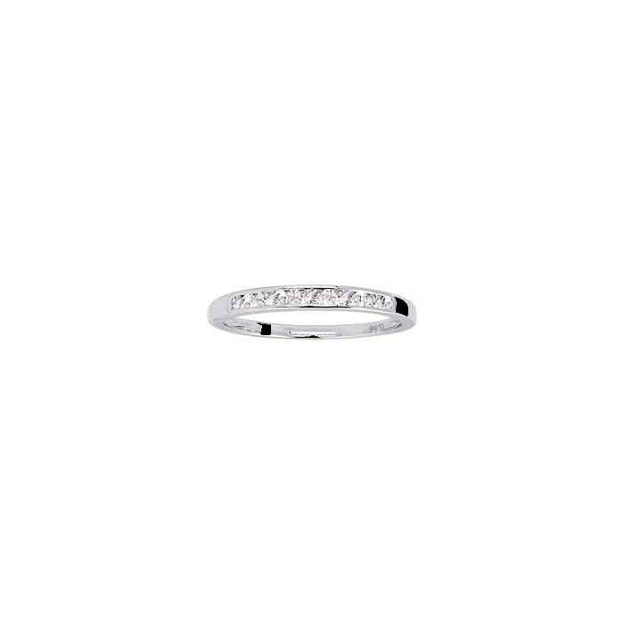 Alliance en or blanc et diamants de 0.15ct vue 1