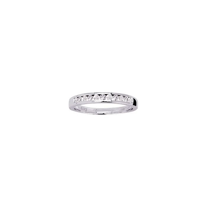 Alliance en or blanc et diamants de 0.22ct vue 1