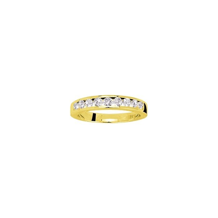 Alliance en or jaune et diamants de 0.54ct vue 1