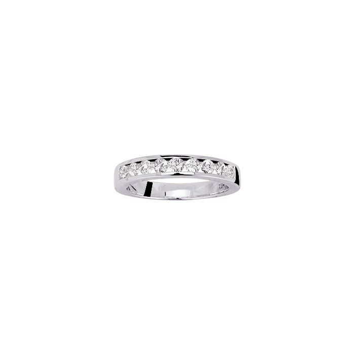 Alliance en or blanc et diamants de 0.60ct vue 1