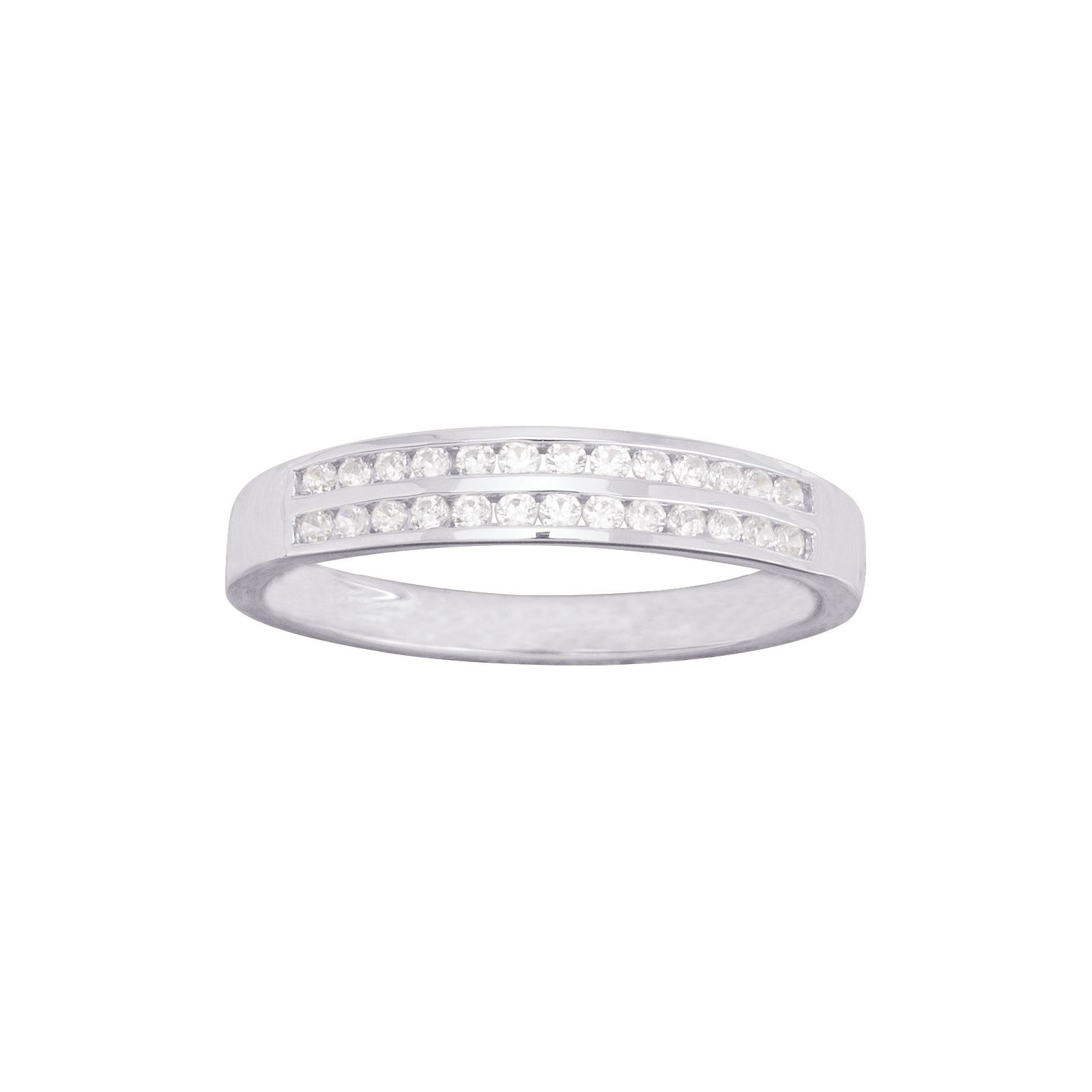 Alliance en or blanc et diamants de 0.12ct vue 1