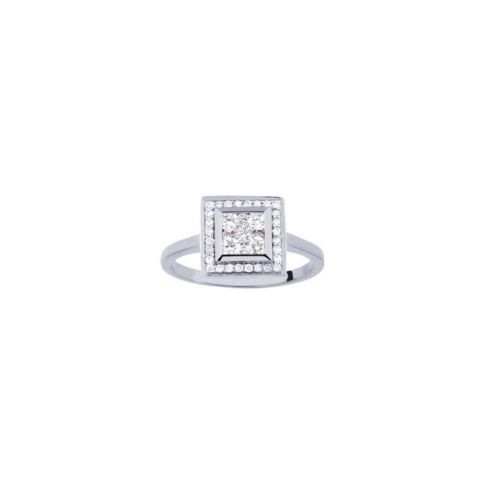 Bague en or blanc et diamants de 0.50ct