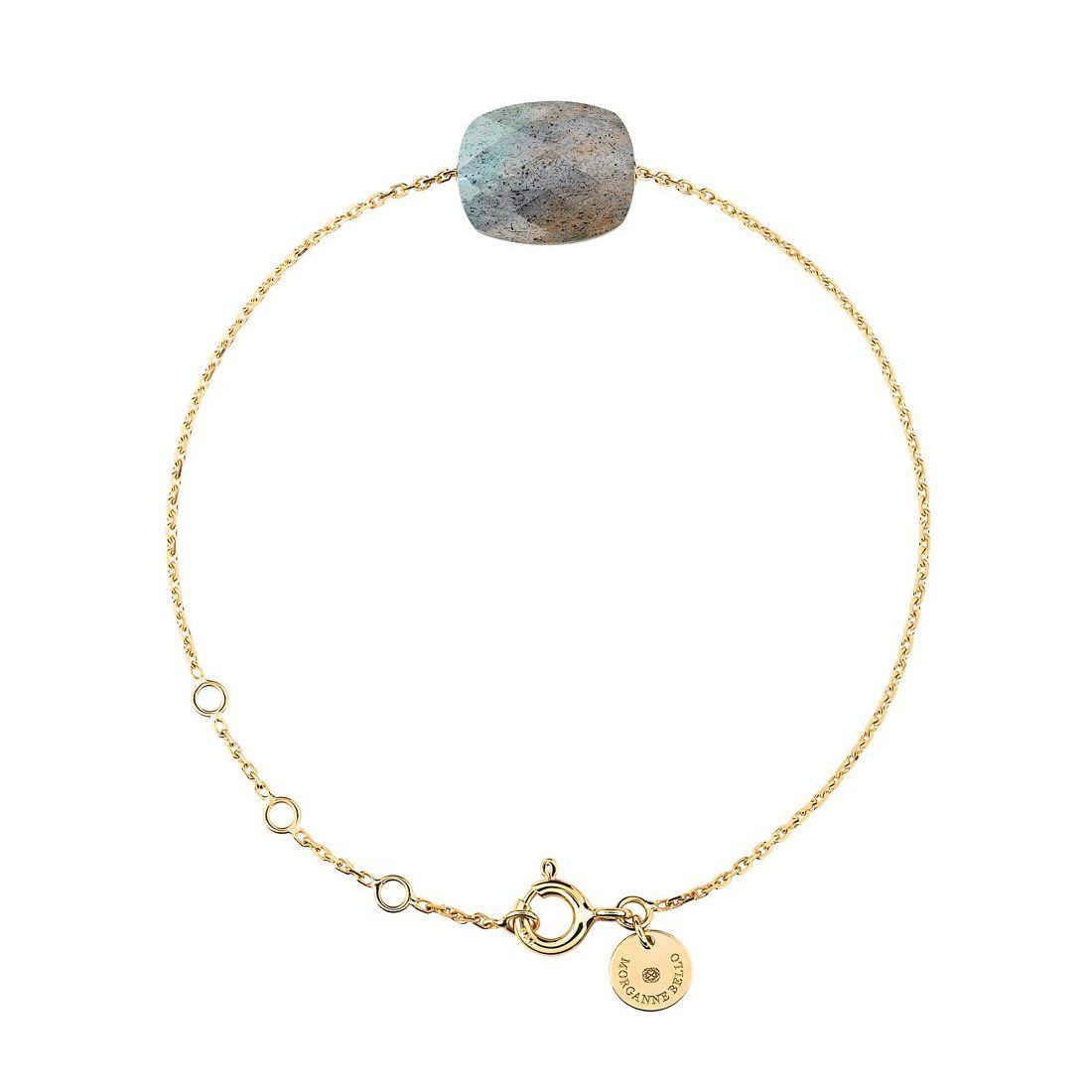 Bracelet Morganne Bello Friandise en or jaune et labradorite