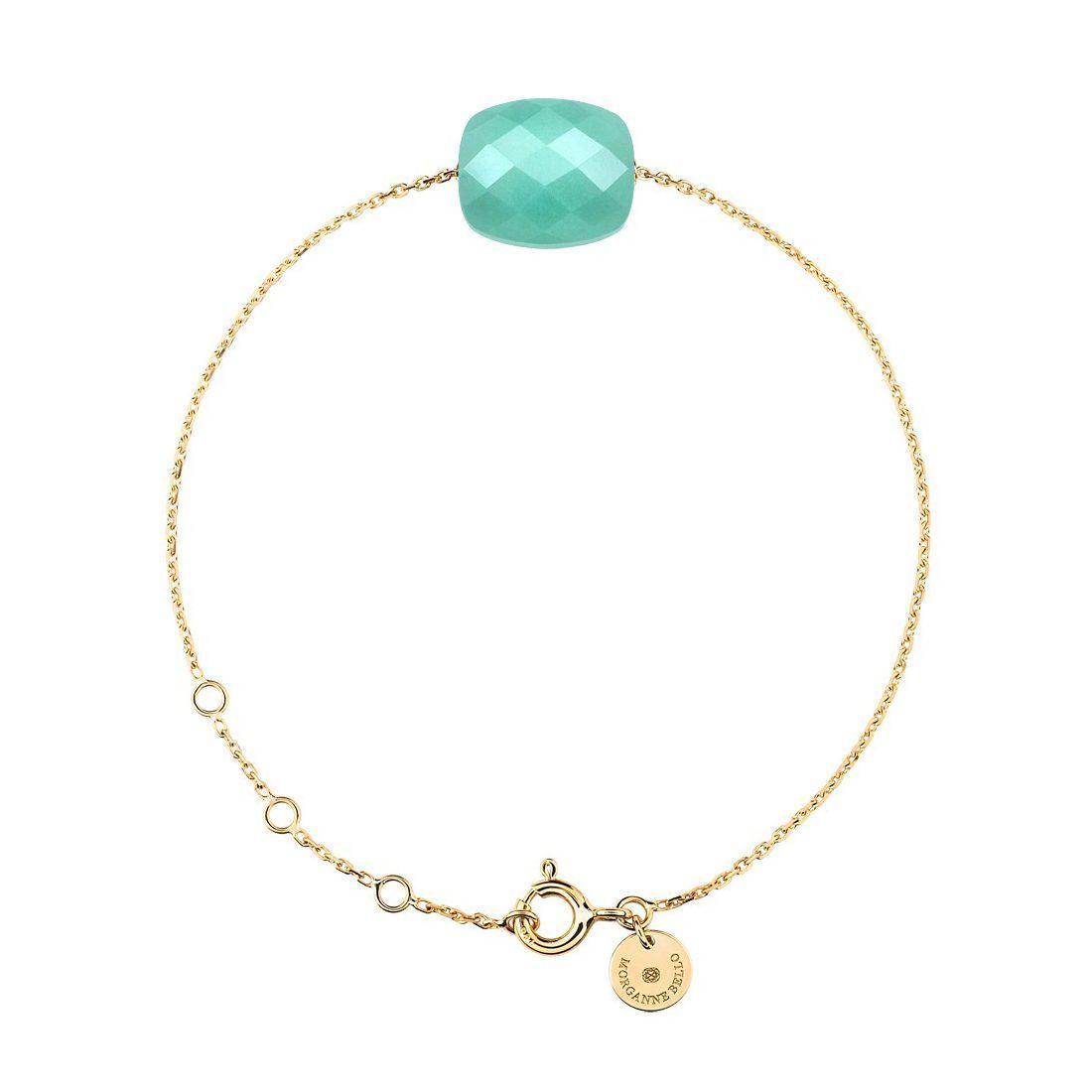 Bracelet Morganne Bello Friandise en or jaune et amazonite