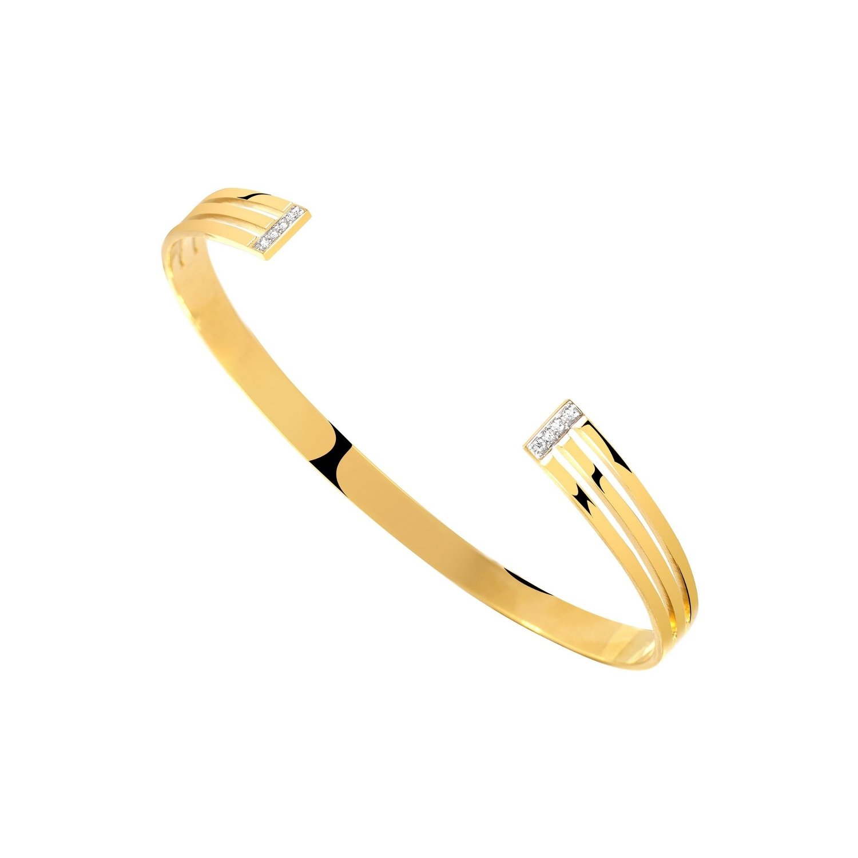 Bracelet Murat en plaqué or jaune et oxydes de zirconium vue 1