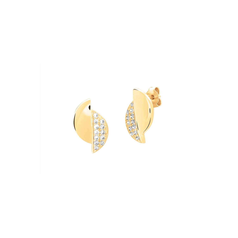 Boucles d'oreilles Murat en plaqué or jaune et oxydes de zirconium vue 1