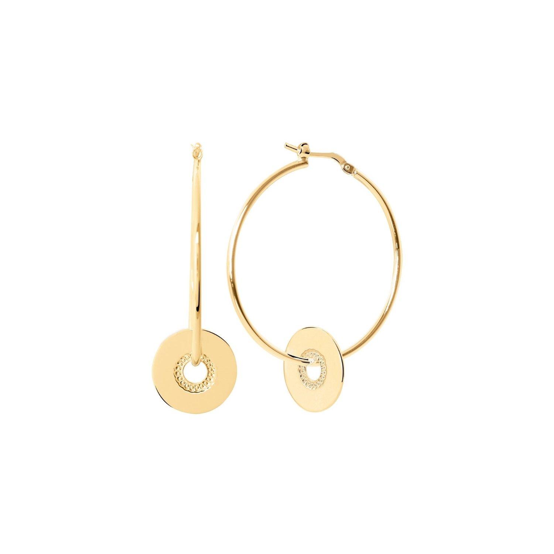 Boucles d'oreilles Murat en plaqué or jaune vue 1