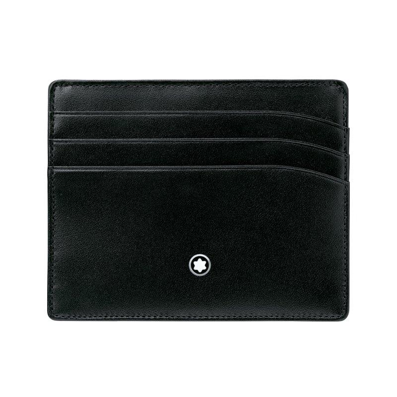 Porte-cartes Montblanc Meisterstück en cuir noir vue 1