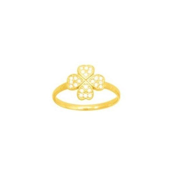 Bague Murat en plaqué or jaune et oxydes de zirconium vue 1